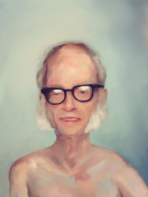 Portrait of Isaac Asimov - by Aaron Bradbury